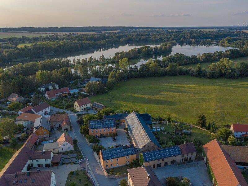 Luftaufnahme Ferienhof